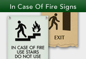 In Case of Fire Signs