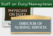 Staff on Duty/Nameplates